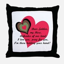 DEAR SOLDIER GIFTS Throw Pillow