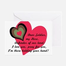 DEAR SOLDIER Blank Greeting Card