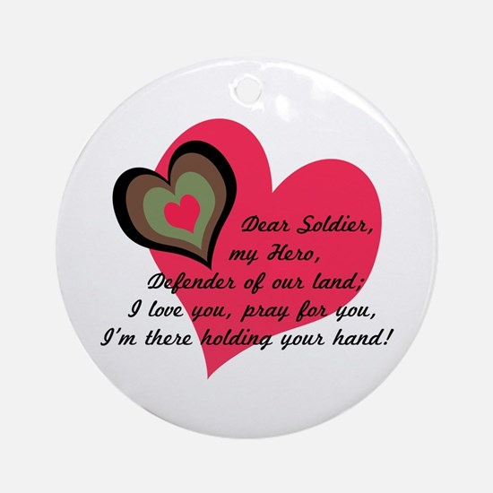 DEAR SOLDIER GIFTS Ornament (Round)
