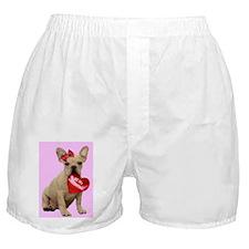 Be my Valentine French Bulldo Boxer Shorts