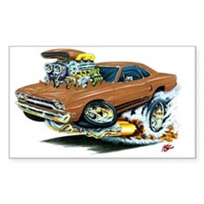 Plymouth GTX Brown Car Rectangle Decal