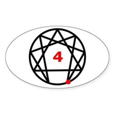 Enneagram Type 4 Oval Decal