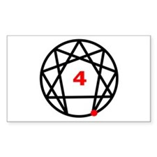 Enneagram Type 4 Rectangle Decal