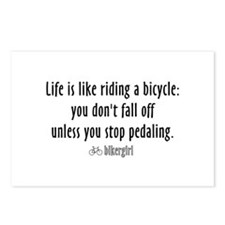 Life is like riding a bicycle Postcards (Package o