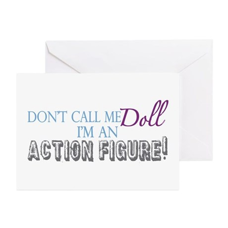 Girl Action Figure Greeting Cards (Pk of 20)