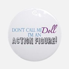 Girl Action Figure Ornament (Round)