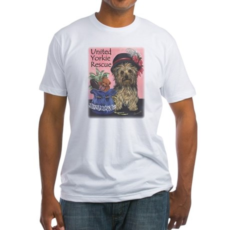 United Yorkie Rescue Fitted T-Shirt