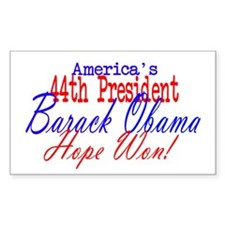 44th President Obama Rectangle Decal