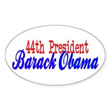 44th President Obama Oval Decal