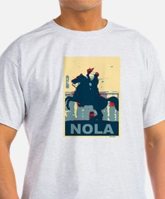 Nola Jackson In Red and Blue T-Shirt