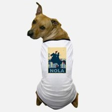 Nola Jackson In Red and Blue Dog T-Shirt