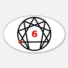 Enneagram Type 6 Oval Decal