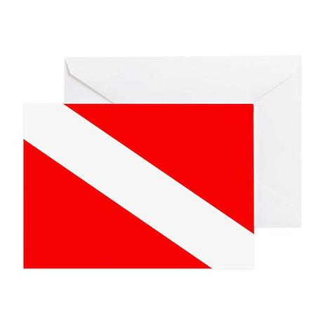 Blank Dive Flag Greeting Card