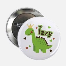 "Dinosaur Princess Izzy 2.25"" Button"