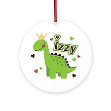 Dinosaur Princess Izzy Ornament (Round)