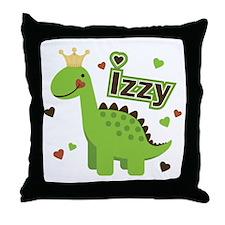 Dinosaur Princess Izzy Throw Pillow