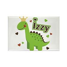 Dinosaur Princess Izzy Rectangle Magnet