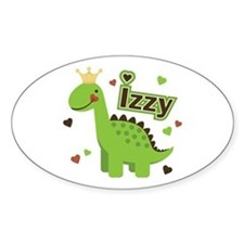 Dinosaur Princess Izzy Oval Decal