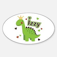 Dinosaur Princess Izzy Oval Decal