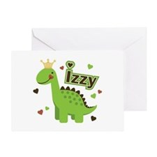 Dinosaur Princess Izzy Greeting Card