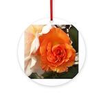 Orange Rose Ornament (Round)