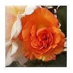 Orange Rose Tile Coaster