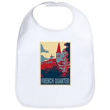 French Quarter in Red and Blu Bib