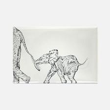 Elephants Rectangle Magnet