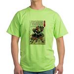 Japanese Samurai Warrior Morimasa Green T-Shirt