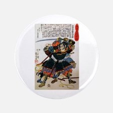 "Japanese Samurai Warrior Morimasa 3.5"" Button"