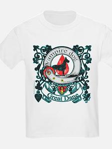 Vampire Dog Great Dane T-Shirt
