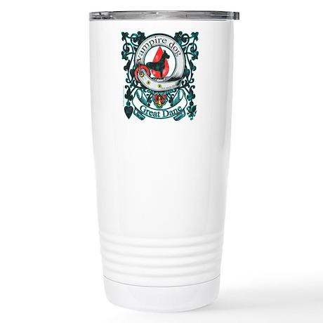 Vampire Dog Great Dane Stainless Steel Travel Mug
