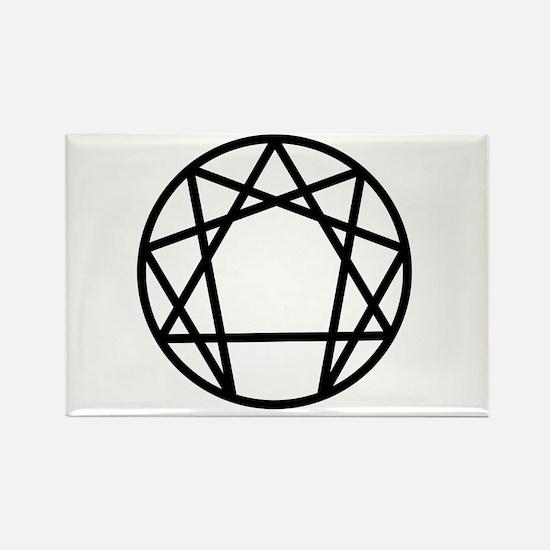 Enneagram Symbol Rectangle Magnet