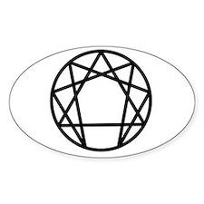 Enneagram Symbol Oval Decal
