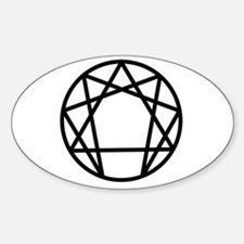 Enneagram Symbol Oval Decal