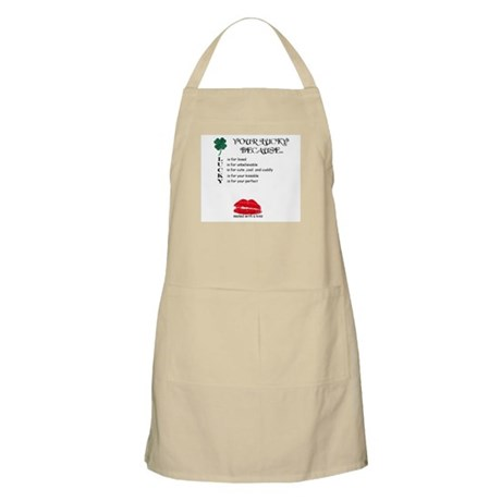 SEALED WITH A KISS Apron