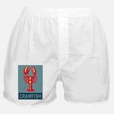 Crawfish In Red and Blue Boxer Shorts