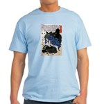 Japanese Samurai Warrior Yoshiharu Light T-Shirt