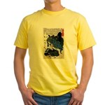 Japanese Samurai Warrior Yoshiharu Yellow T-Shirt