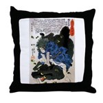 Japanese Samurai Warrior Yoshiharu Throw Pillow