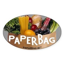 Paperbag Oval Decal