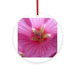 Pink Flower Ornament (Round)