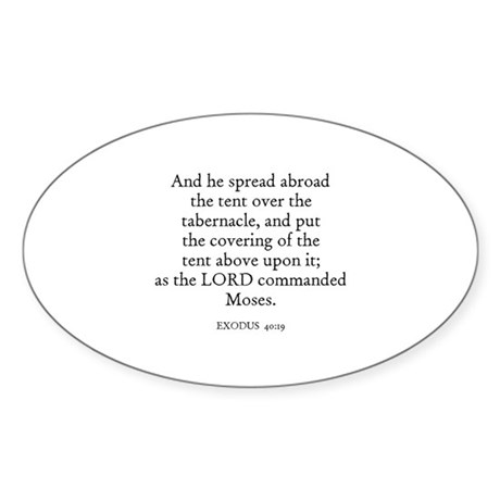 EXODUS 40:19 Oval Sticker