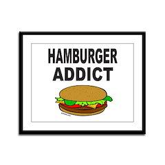 HAMBURGER ADDICT Framed Panel Print