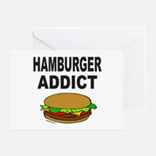 HAMBURGER ADDICT Greeting Card