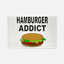 HAMBURGER ADDICT Rectangle Magnet (100 pack)
