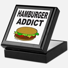 HAMBURGER ADDICT Keepsake Box