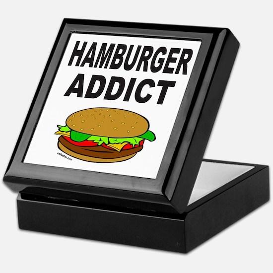 HAMBURGER ADDICT Keepsake Box