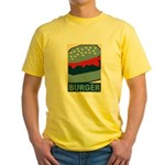 Burger in Red and Blue Yellow T-Shirt