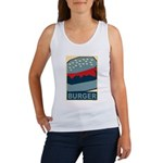 Burger in Red and Blue Women's Tank Top